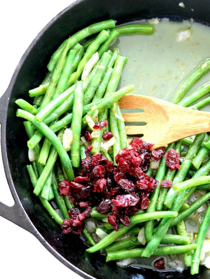 Sautéed Cranberry Orange Spiced Green Beans recipe