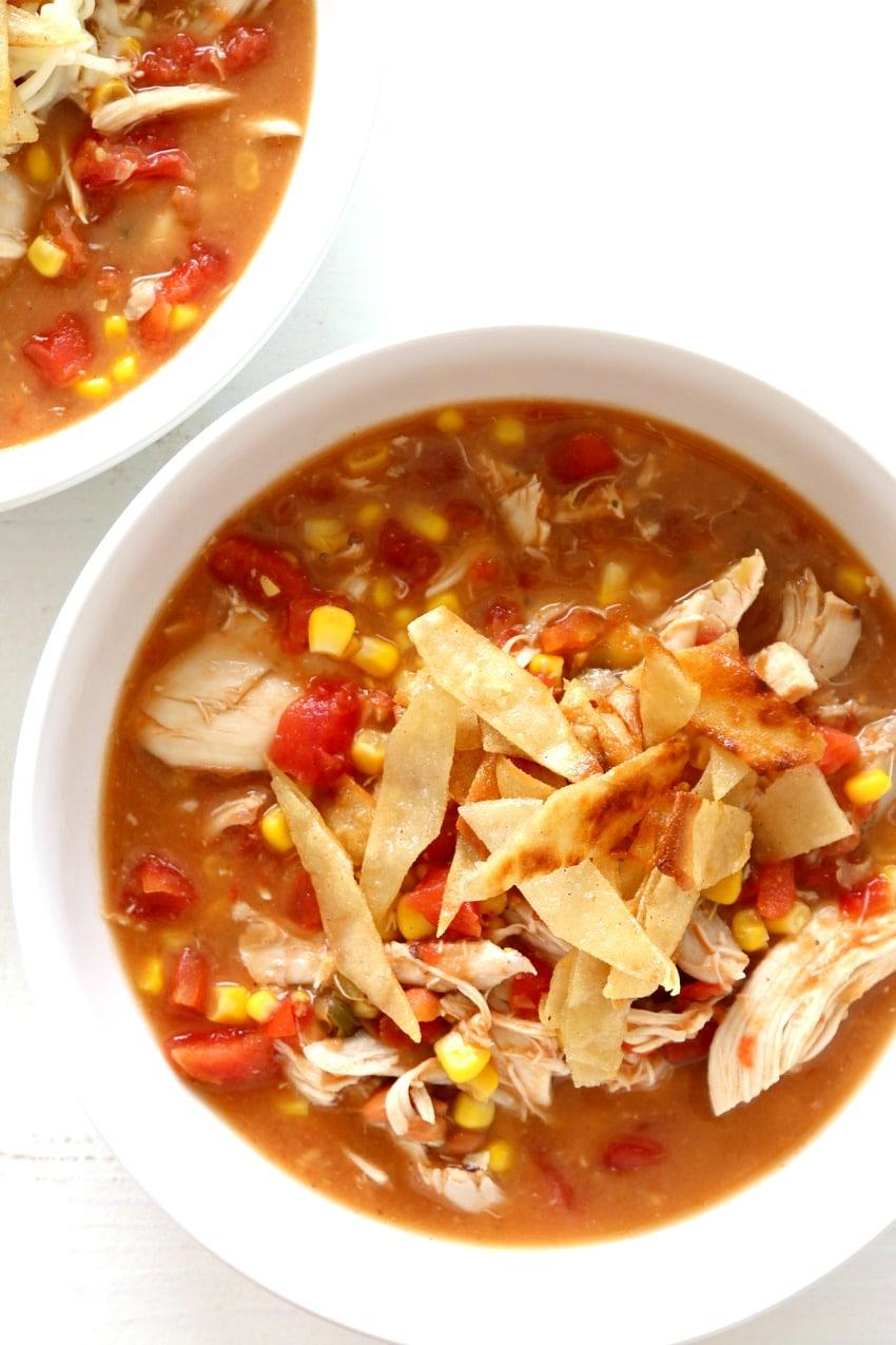 creamy chicken tortilla soup recipe