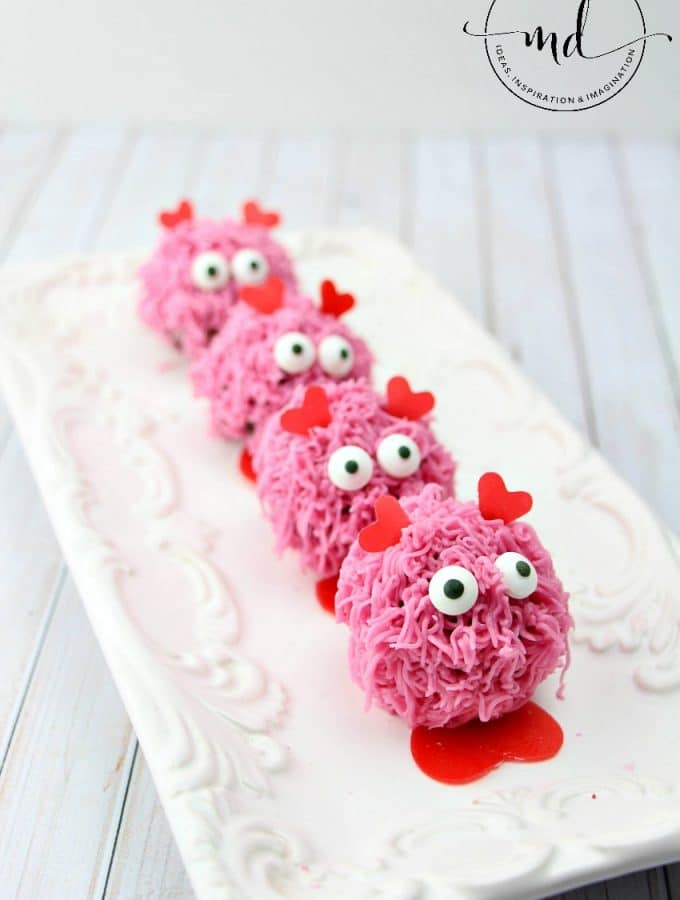 """Love Bug"" Donut Holes : Easy Baked Donut Hole and Custom Frosting to create a fun Valentines Treat"