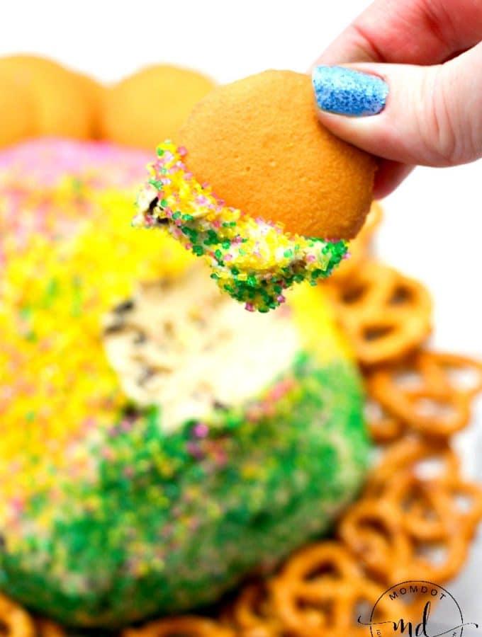 Mardi Gras Cookie Dough Ball