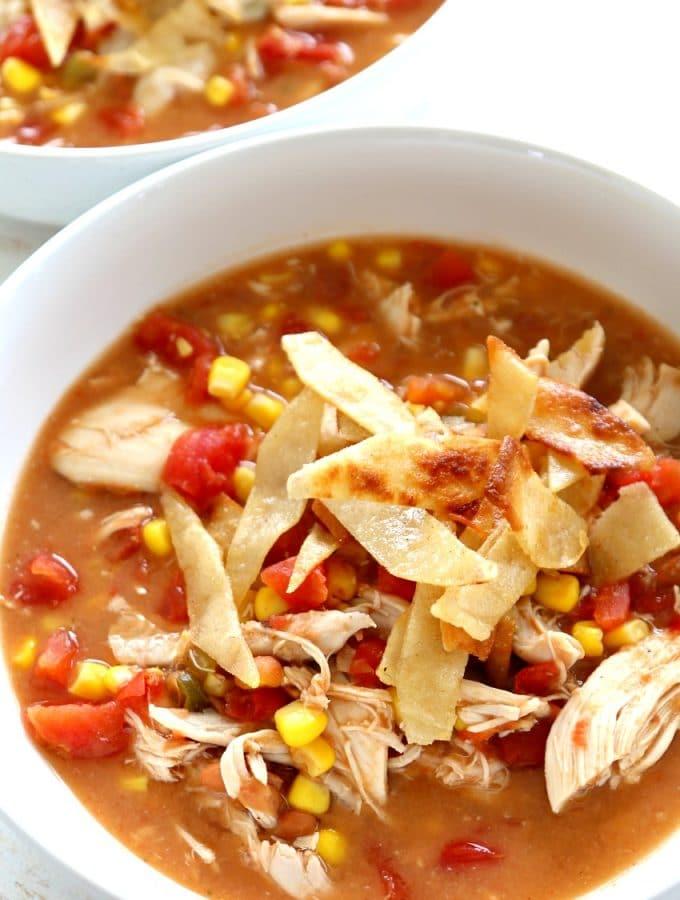 Chicken Tortilla Soup, Easy Creamy Authentic Tortilla Soup