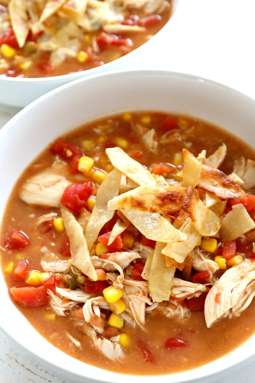 Easy Creamy Chicken Tortilla Soup