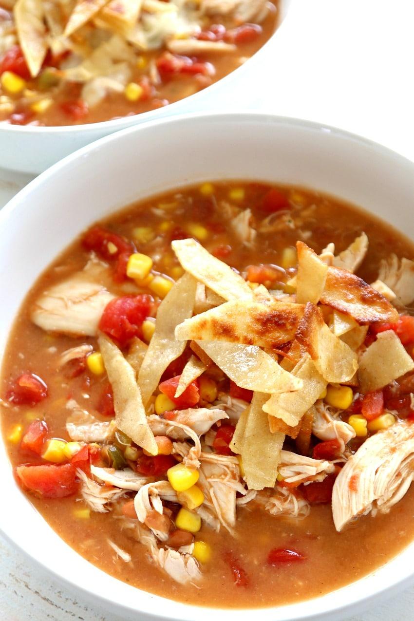 recipes chicken tortilla soup