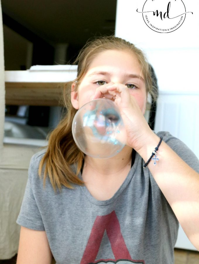 How to Blow Bubbles With Slime