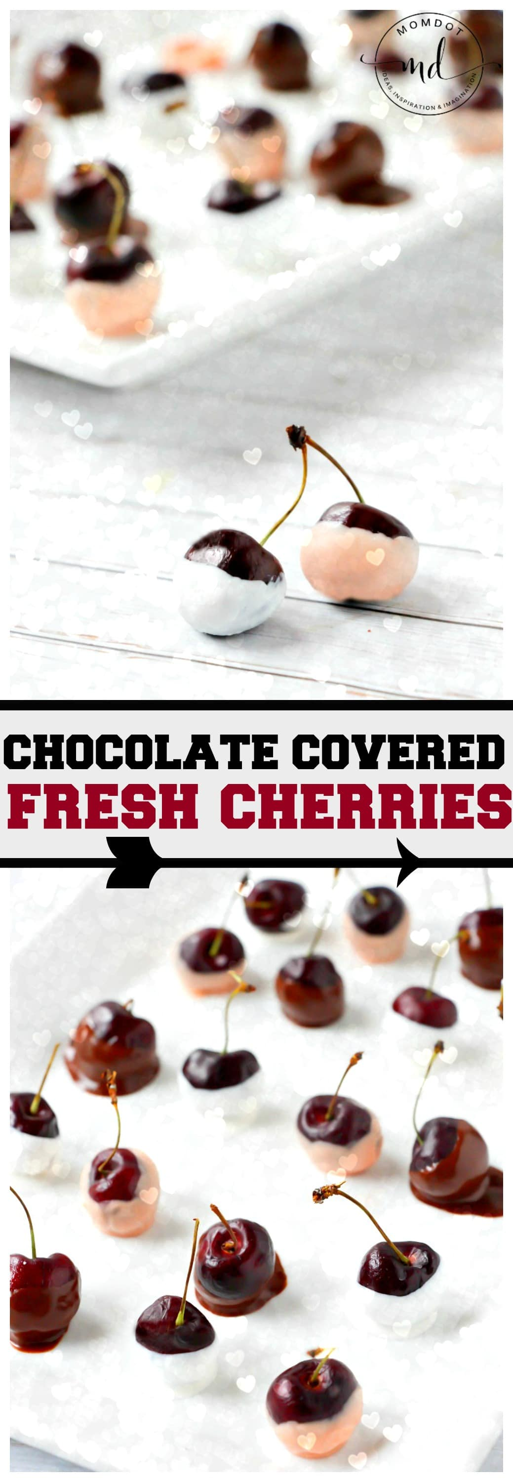 Chocolate Covered Fresh Cherries, how to take out cherry pits and stems and what chocolate to use for this tasty treat