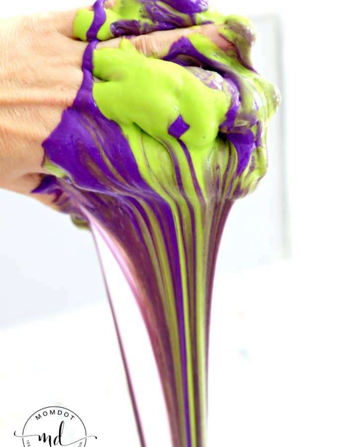 Mardi Gras Slime (Without Borax)
