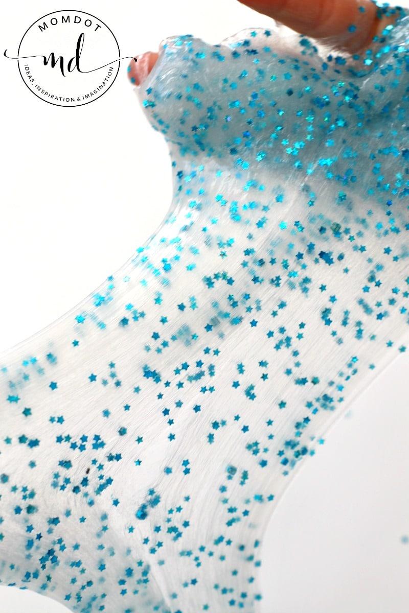 No Borax Slime DIY : 2 ingredient sparkly slime tutorial