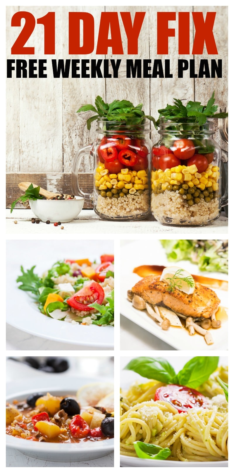 21 day Fix Meal Plan - meal plan is designed to fit 1500 – 1800 calories a day and offers breakfast, lunch, dinner and snack. Help to get jumpstarted in 21 day fix