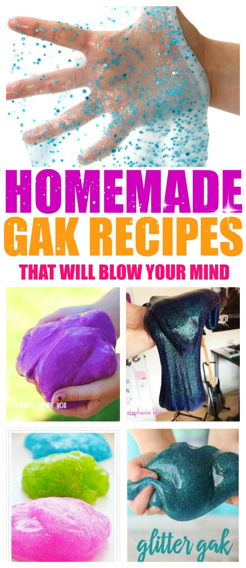 5 Homemade Gak Recipes that will Blow your Mind: Glitter Gak is SO much fun