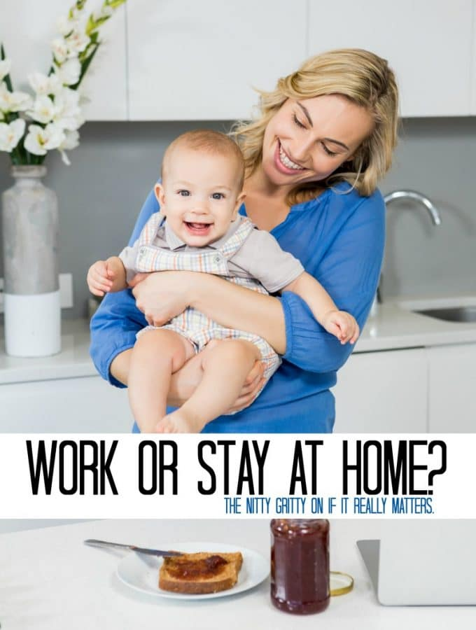Working Mom or Stay at home mom - the nitty gritty on if it really matter what you do and how you can make your future your own - Rid yourself of Mom Guilt