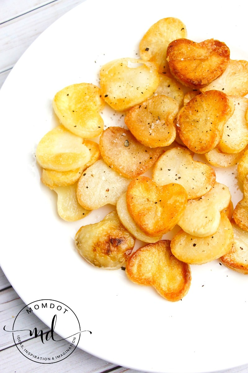 heart shaped roasted potatoes - a great sidedish