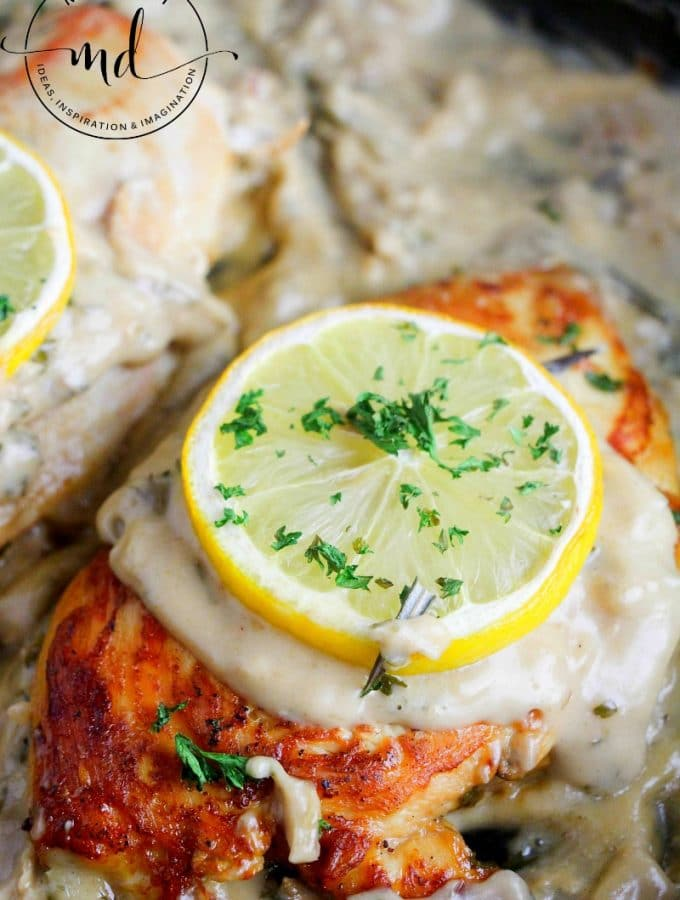 Creamy Lemon Chicken : Sauce two ways for a delicious dinner recipe