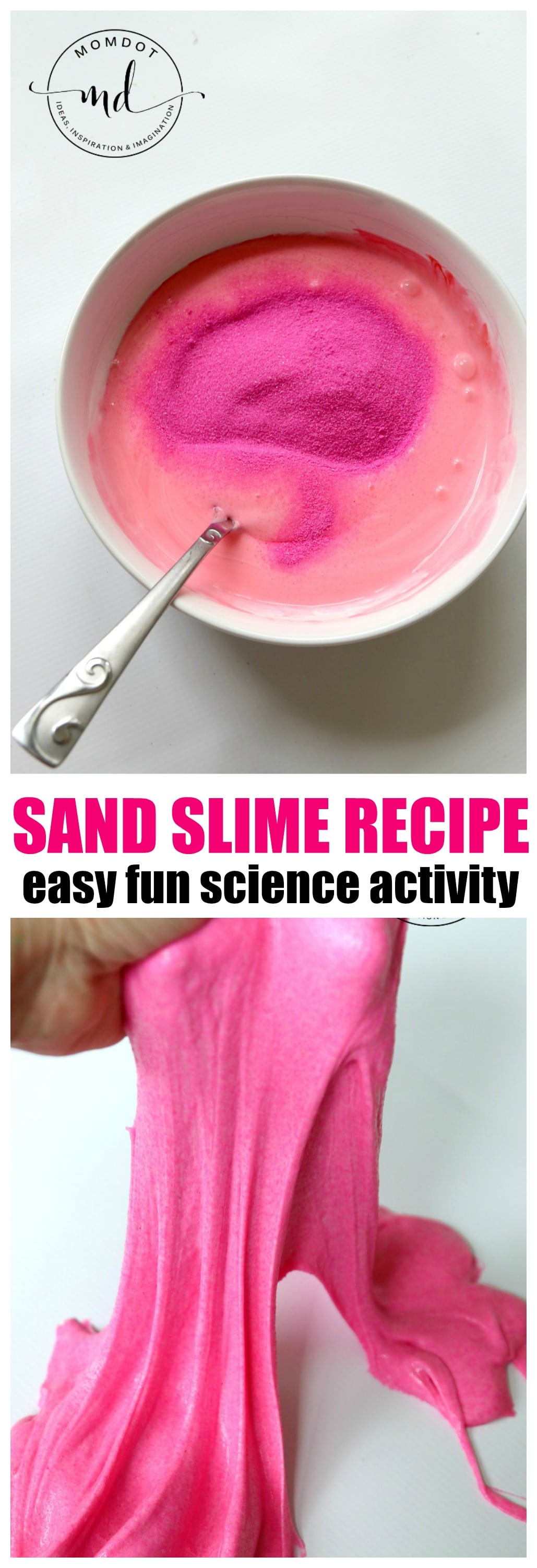 Unicorn Sand Slime Recipe : Make sand slime for a fun slime sensory experience