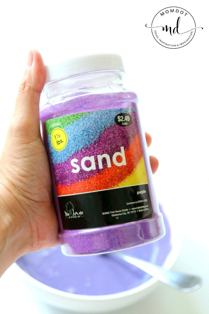 Sand slime Recipe: Learn how to make sensory sand slime (fluffy!)