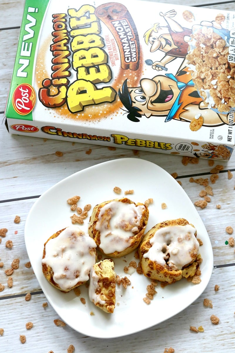 Cereal Stuffed Cinnamon Rolls Recipe, fun breakfast recipe your kids will love to eat and make