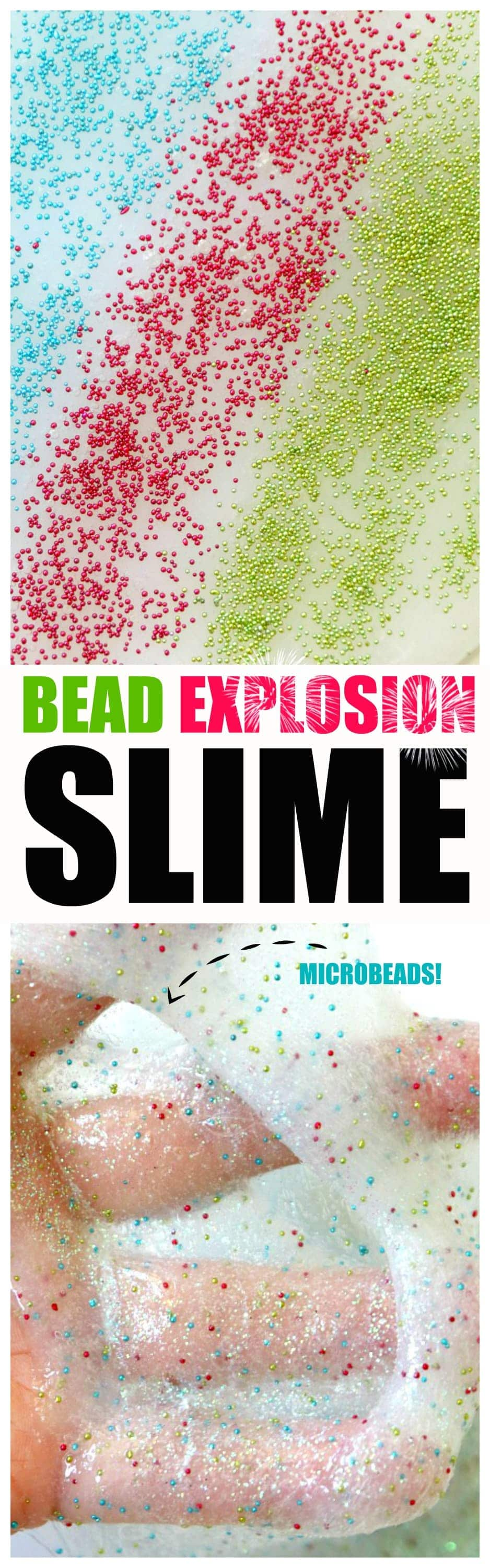 Bead Explosion Slime : how to make fluffy slime with mini micro beads for a fun sensory experience slime - TOP slime site