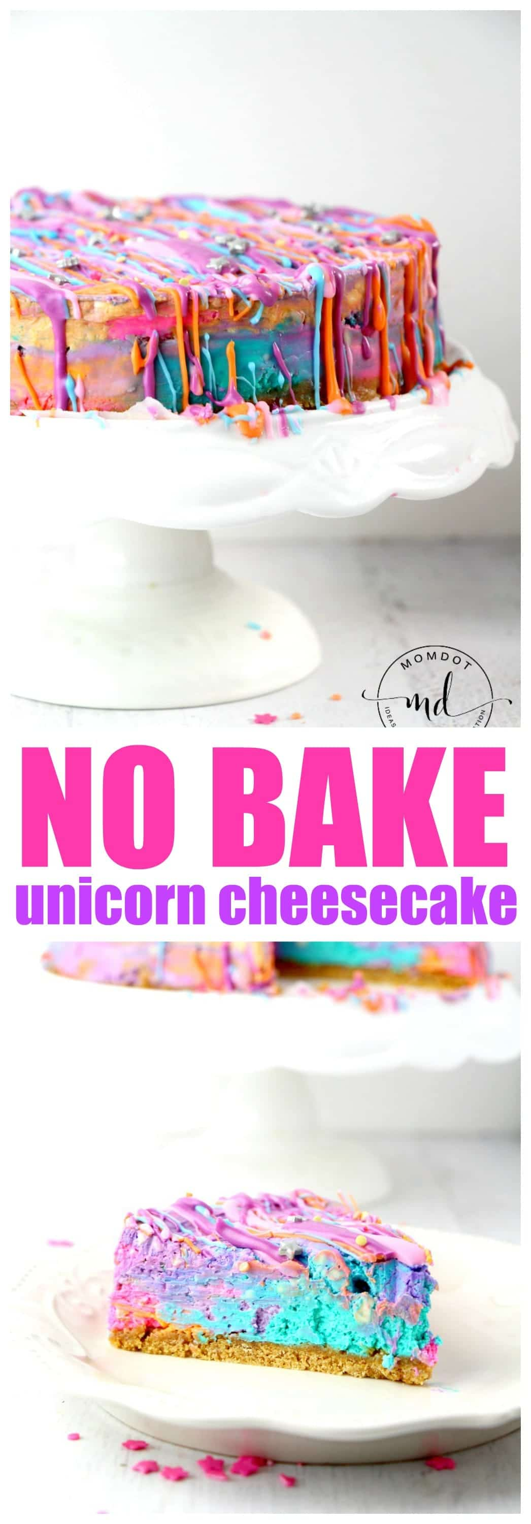 No Bake Unicorn Poop Cheesecake Recipe: Rainbow Tie Dye Cheesecake , gorgeous!