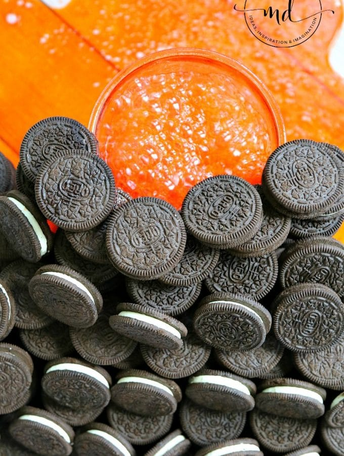 Create an OREO volcano for a fun party cookie display