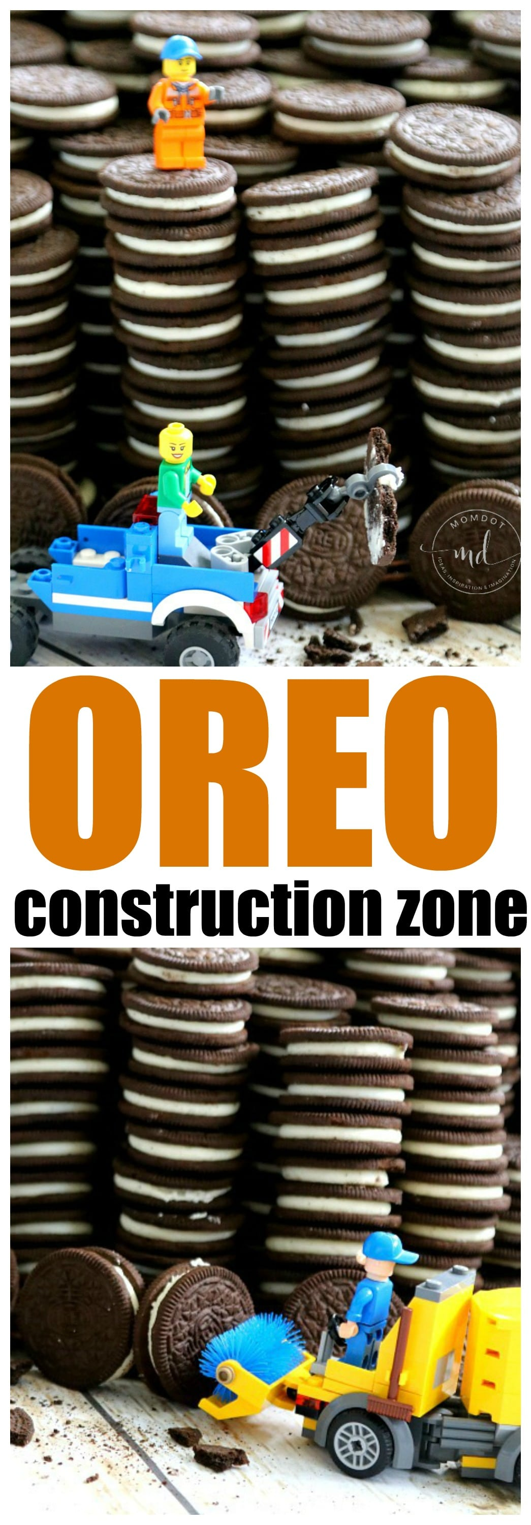 OREO COOKIE Construction Zone: Birthday Party Idea , just add LEGOs for a fantastic OREO display