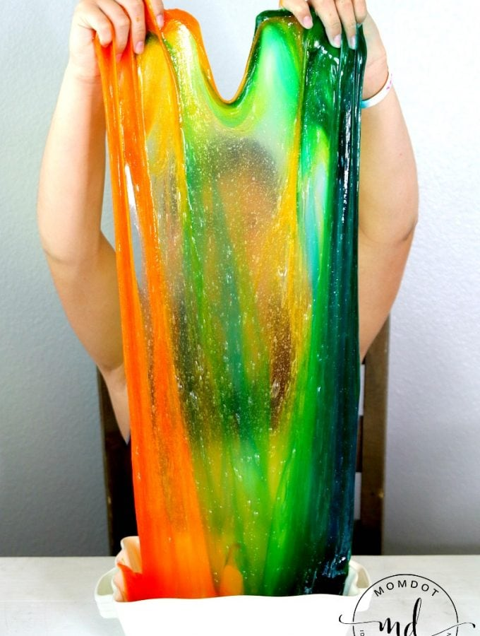 Clear Rainbow Slime: No Borax