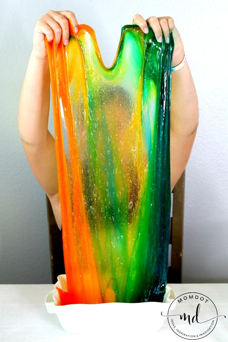 Rainbow Slime That will Blow your Mind, Plus Video of it Sheeting! Gorgeous!