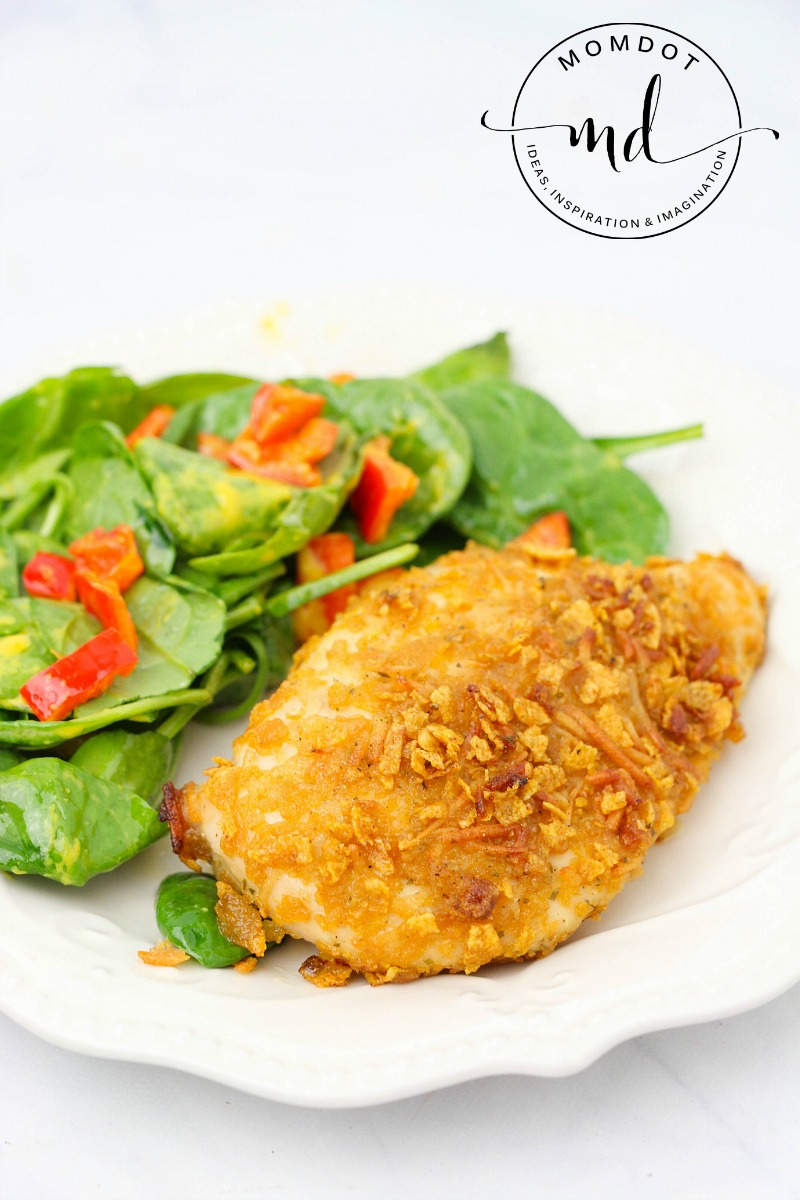 Ranch Chicken Recipe: Parmesan and Ranch are a perfect pairing for this anytime easy family friendly baked meal