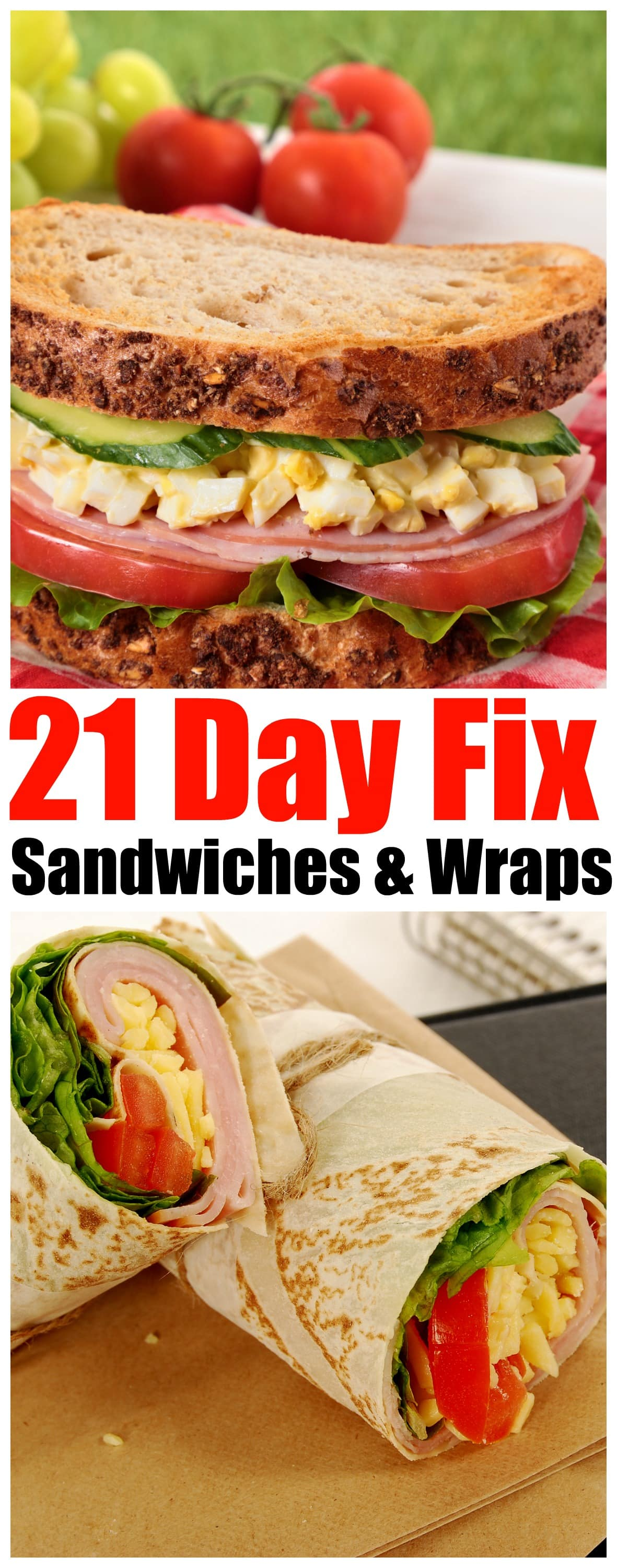 21 Day Fix sandwiches and wraps - Forget Takeout! Eat Easy and Delicious 21-Day Fix Sandwiches that you can makeEvery Day - dont be tempted to fall off the21-Day Fix Challenge