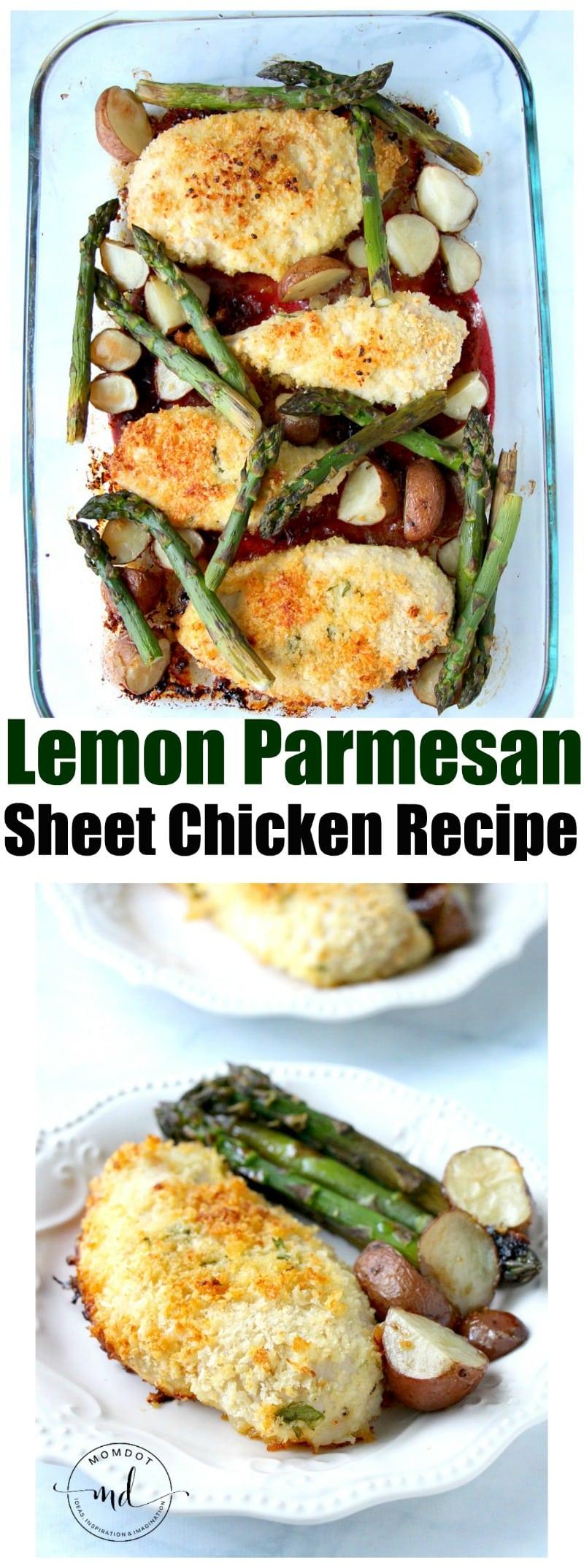 Lemon Parmesan Chicken lemon parmesan sheet chicken recipe - momdot