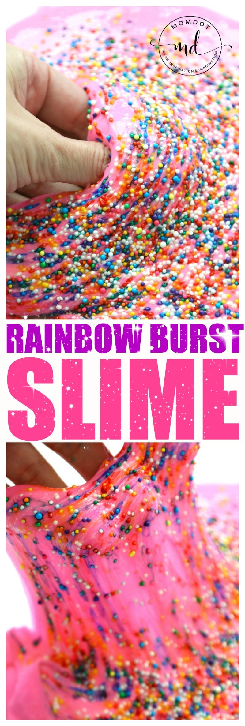 Rainbow Burst Fluffy SLIME, Rainbows will come BURSTING out of your slime with this Fluffy Slime DIY