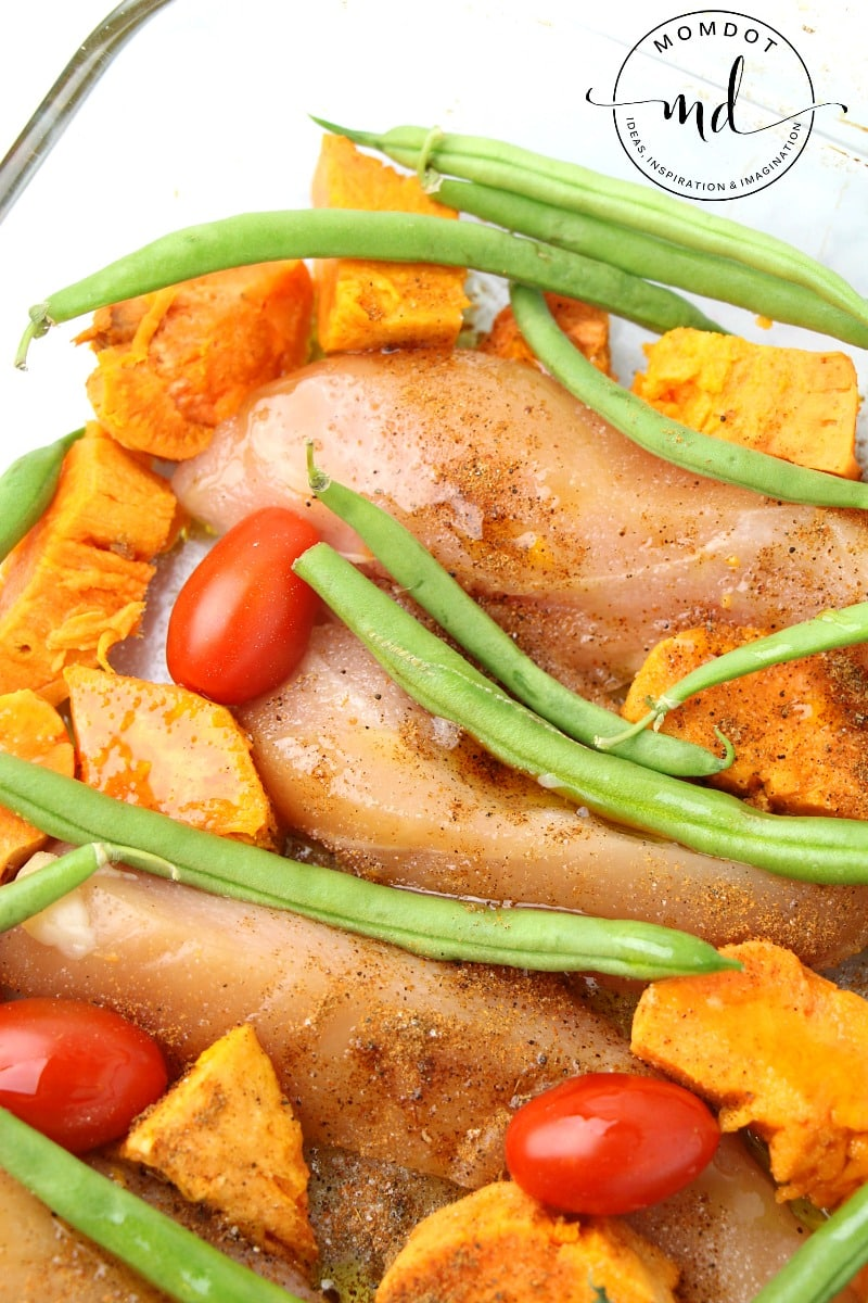 Sheet Pan Chicken & Veg Recipe, use one pan or one dish to create a family dinner everyone will love