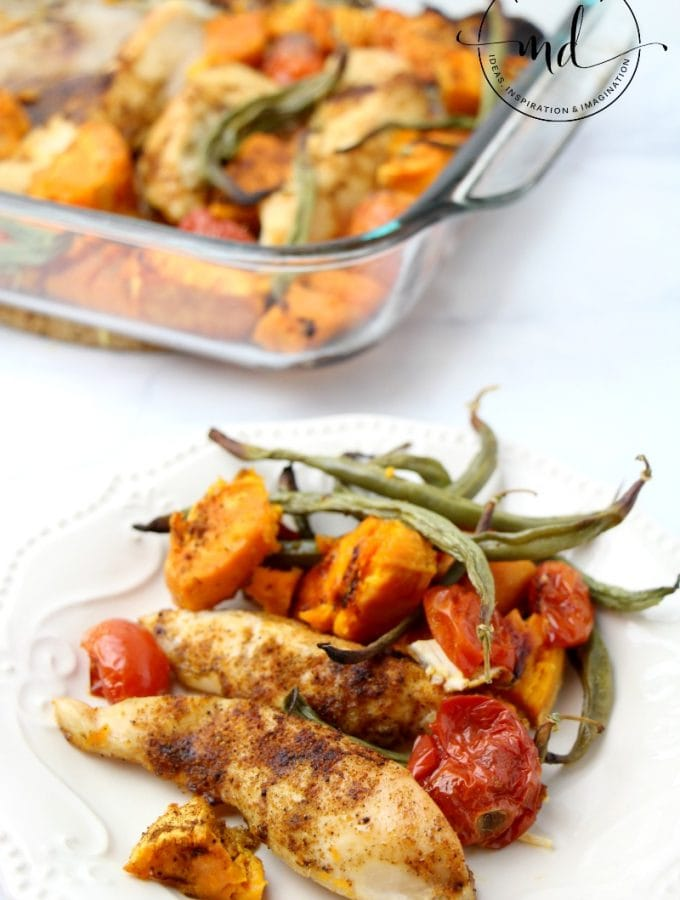 Sheet Pan Chicken with Roasted Potatoes and Green Beans
