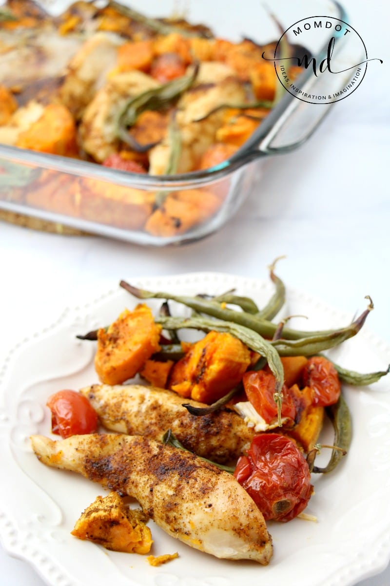 Sheet Pan Chicken & Veg Recipe, a perfect way to keep down the dishes and up the delicious