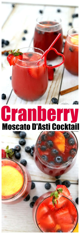 Cranberry Moscato D'Asti Cocktail Recipe