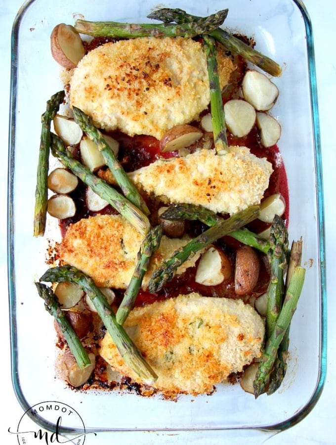 Lemon Parmesan Sheet Chicken Recipe, awesome One Pan Dinner, complete with roasted veggies