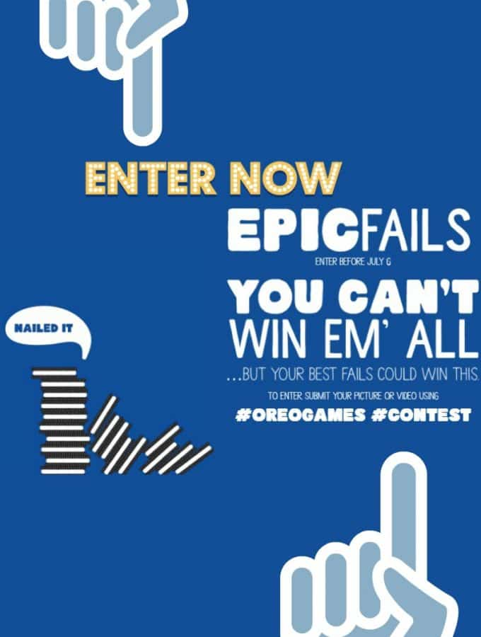 OREO GAMES: Enter Oreo Games 2017 EPIC FAILS for your chance to win $100,000
