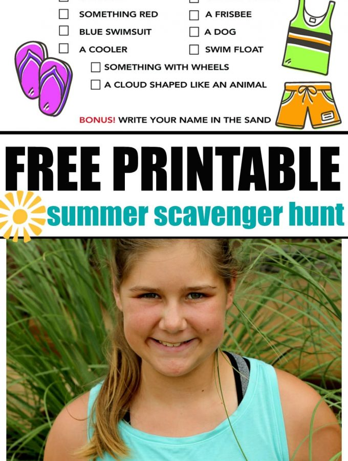 Summer Scavenger Hunt FREE PRINTABLE For Kids