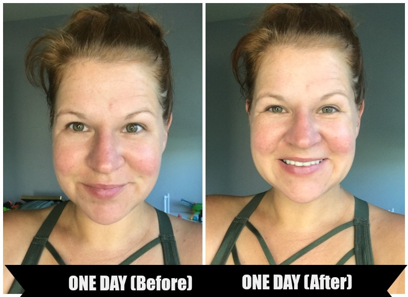 Olay Regenerist Micro-Sculpting Cream before and after