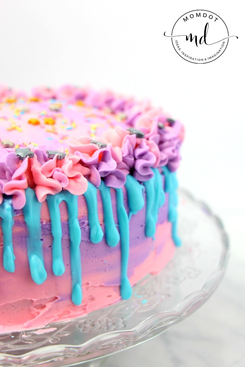 Unicorn Poop Cake Recipe, perfectly delicious rainbow layered unicorn poop cake that is almost too pretty to eat