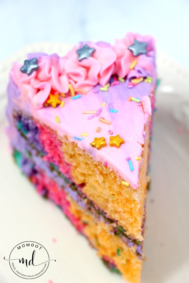 Unicorn Poop Cake Layered Rainbows Momdot