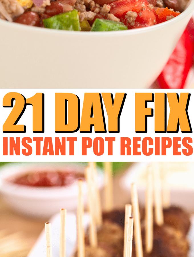 21 Day Fix Instant Pot Recipes to Rock your Menu