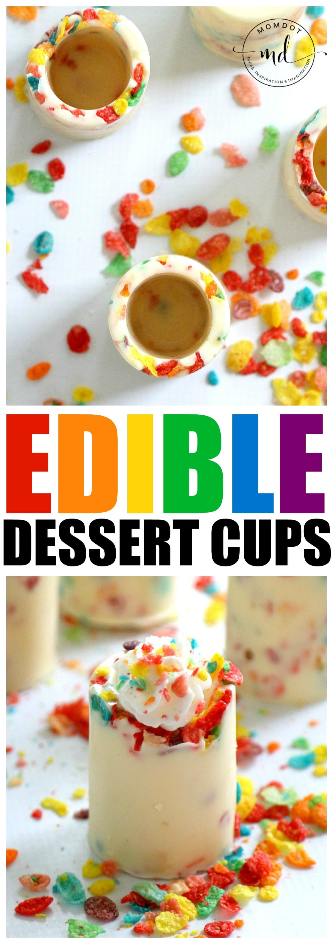 How to make Edible Dessert Cups perfect to fill for mousse, whipped cream, pudding, and cereal, Step by step with exact mold used