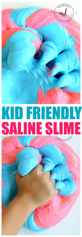 How to make Saline Slime : Use Saline Solution for a Kid Friendly and Safe slime alternative , BEST Saline SLIME Recipe