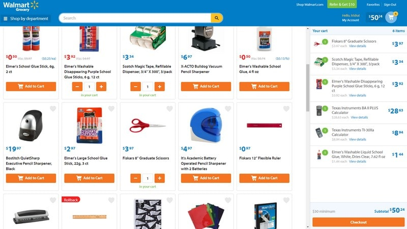 School Supply Shopping in 5 minutes or Less