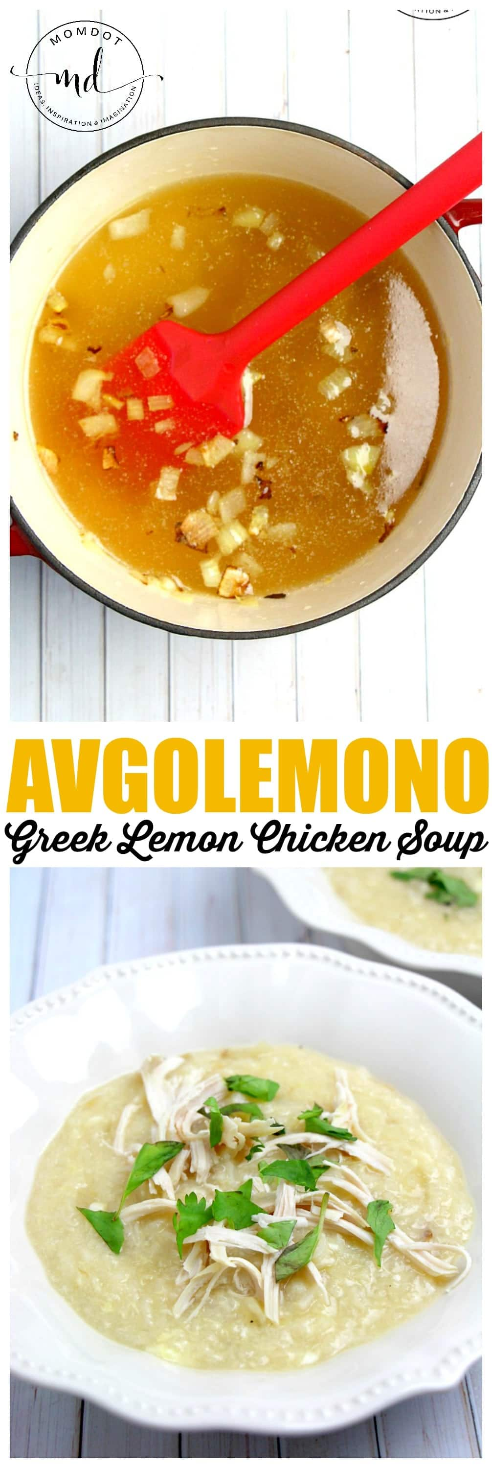 Avgolemono Soup is Greek, a creamy lemon chicken and rice soup , making it a perfect soup for the fall or any time you need a full belly.