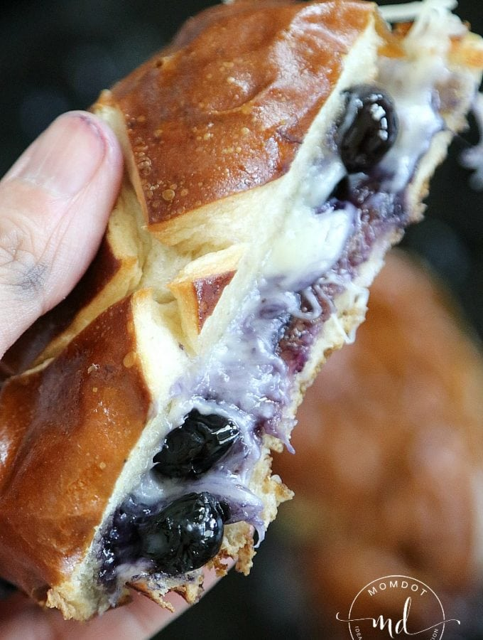 Grilled Cheese with Blueberries! DELICIOUS!