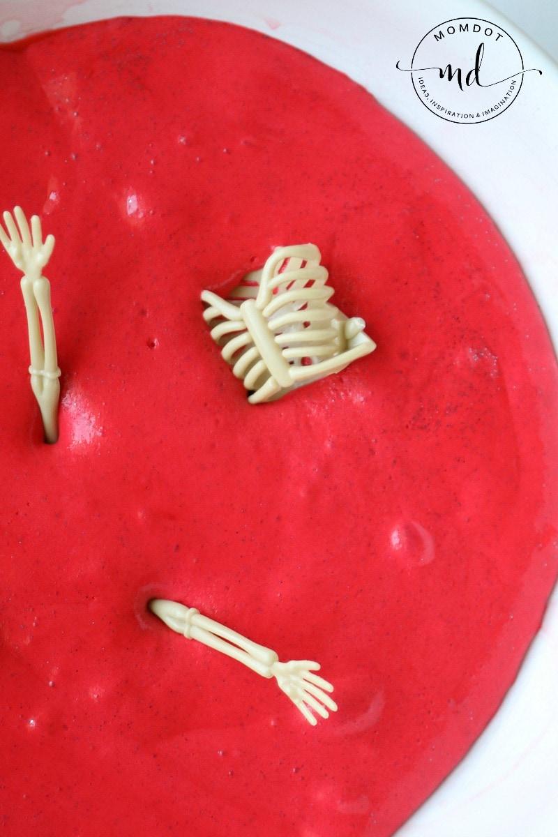 Halloween Slime Tutorial   Red Blood Slime DIY   Zombie Slime   How to make Halloween Slime