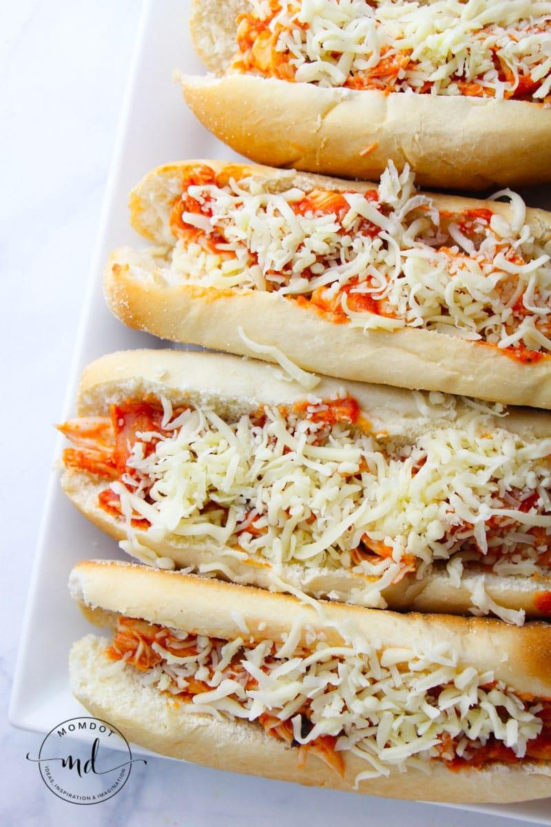 Slow Cooker Chicken Parmesan Recipe Chicken Parmesan Sandwiches made easy in Crock pot Italian Dinner Night