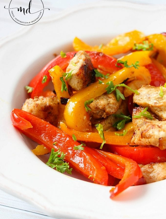 Simple Chicken Fajitas: 21 Day Fix Approved