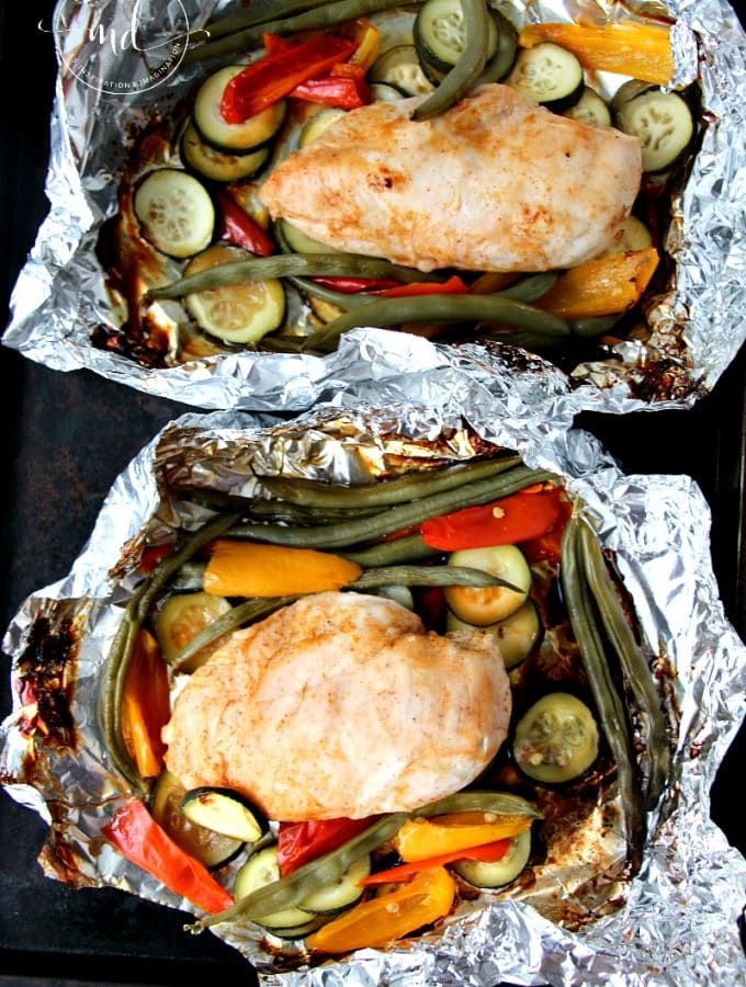 Grilled BBQ Foil Packet Chicken