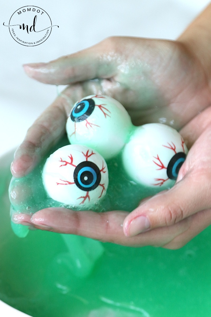 Ectoplasm slime is a Halloween Slime Recipe that is drippy and gross, perfect to double as snot for Halloween favors. Gross FUN recipe!